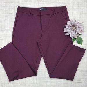 Liverpool Kelsey Knit Aubergine Purple Cropped Pants 12